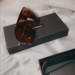 Dolce & Gabbana shield sunglasses